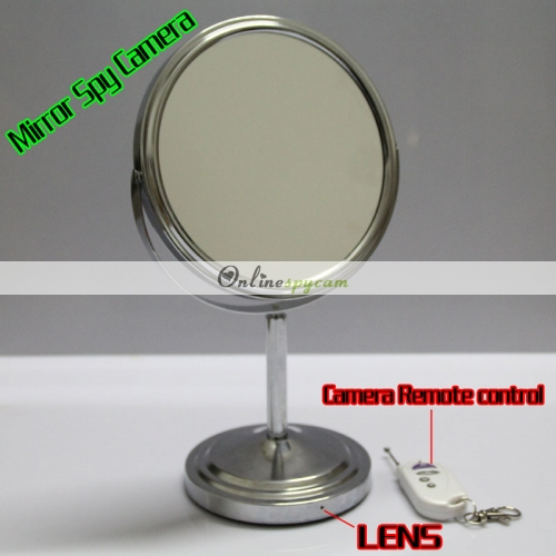 bedroom spy camera double sided mirror hidden remote control 720p hd