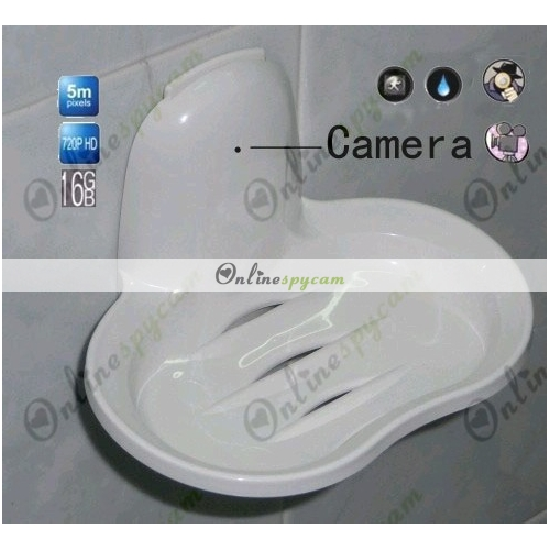 New Bathroom Spy Soap Box Hidden Camera DVR 16GB 1280x720P