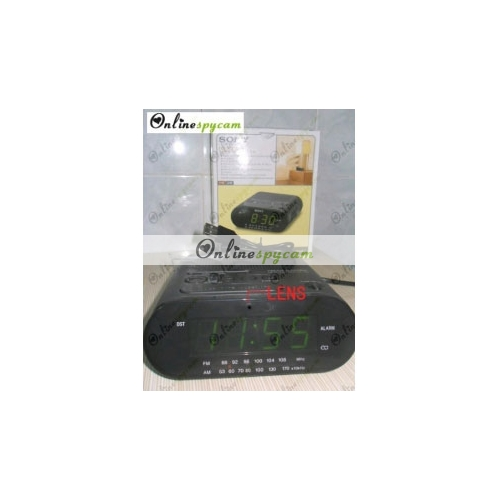 alarm clock and radio hidden 1280x720 hd spy camera 16gb. Black Bedroom Furniture Sets. Home Design Ideas