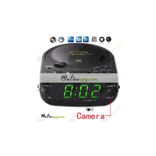alarm clock cd radio hidden spy hd camera dvr 16gb. Black Bedroom Furniture Sets. Home Design Ideas