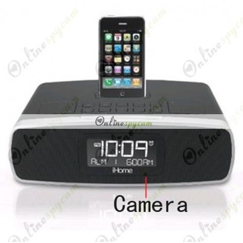 home alarm clock radio hd bedroom spy camera dvr 1280x720